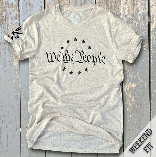 Women's We The People Patriotic Weekend Fit T-Shirt (Heather Oatmeal)