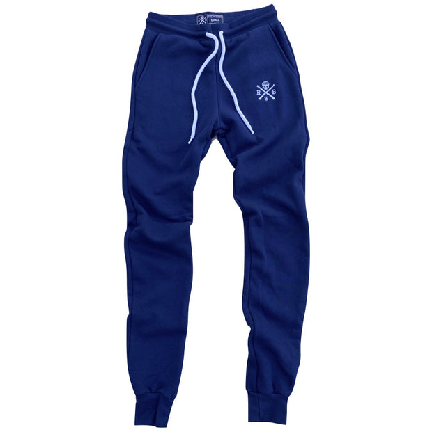 Women's American Made Jogger Sweat Pants (Navy)