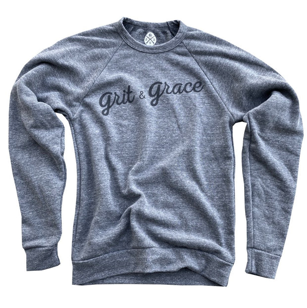 Women's Grit & Grace Ultra Soft Crew Neck Sweatshirt (Heather Gray)