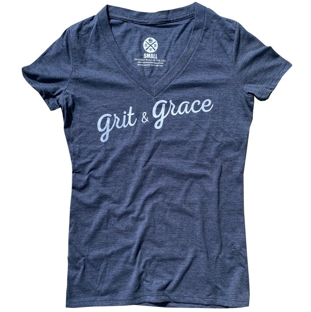 Women's Grit & Grace Patriotic V-Neck T Shirt