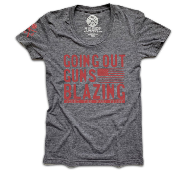 Women's Going Out Guns Blazing Tri-Blend T-Shirt