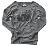 Women's Vintage American CJ-7 Off The Shoulder Sweatshirt