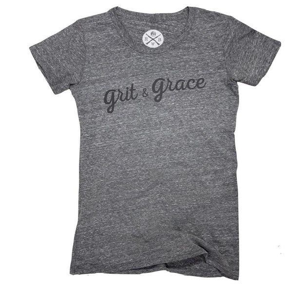 Women's Grit & Grace Patriotic  T Shirt (Heather Gray)