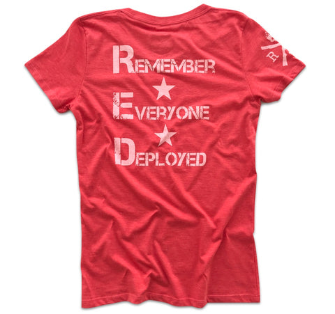 Women's Red Friday Support Operation Homefront Relaxed Fit (Red)