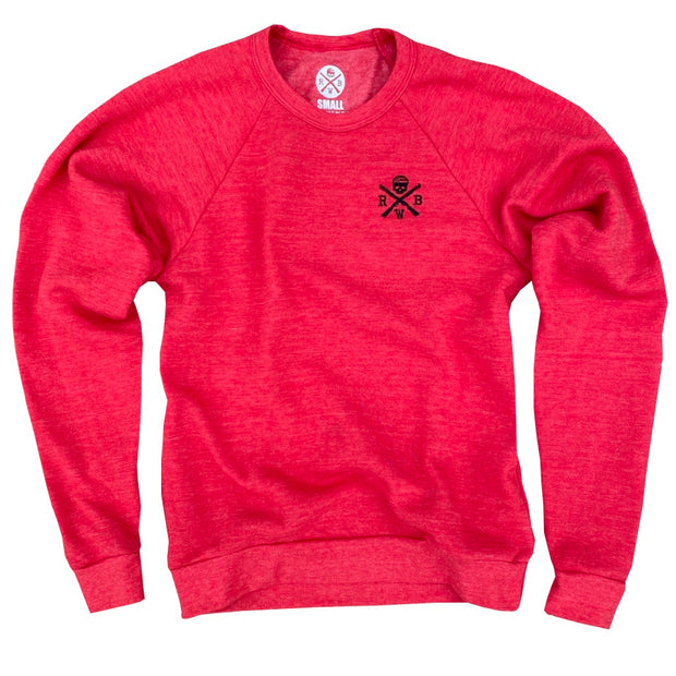 Women's Patriotic Logo Crew Neck Sweatshirt (Red)