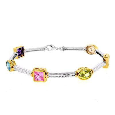 Multi-Colored CZ Bracelet