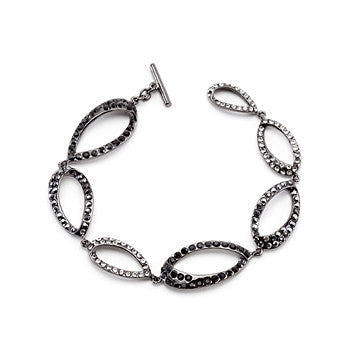 Clear and Black Drop Bracelet