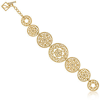 Golden Circle Filigree Bracelet