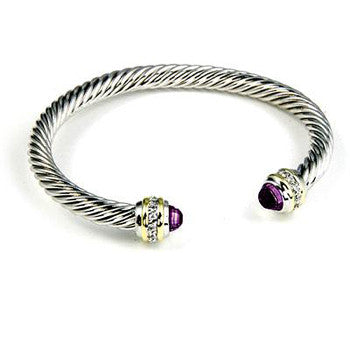 Purple Twist Illusion Cuff