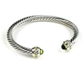 Green Twist Illusion Cuff