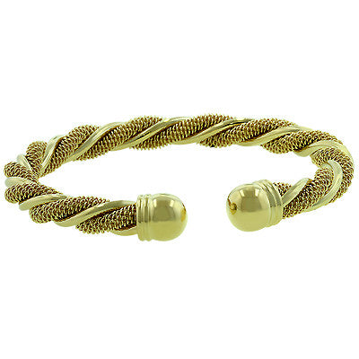 Golden Twist Bangle