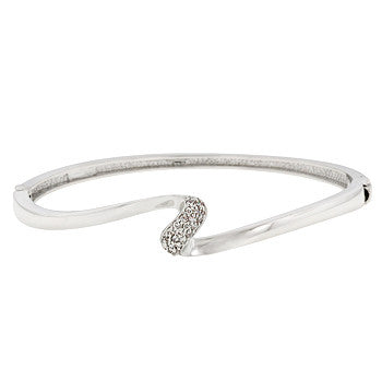 Delicate CZ Wave Bangle