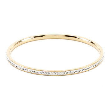 Simple Goldtone Crystal Bangle