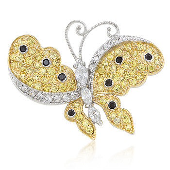 Tutone Butterfly Brooch