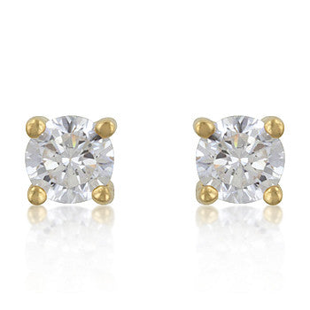 14K 4mm Gold Stud Earrings