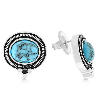 Turquoise Storm Earrings