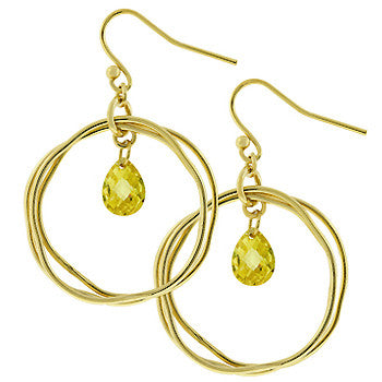 Golden Orbit Wire Earrings