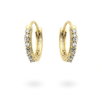 Classic Tiny Hoop Earrings Goldtone