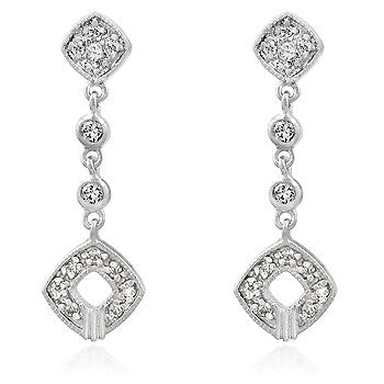 Elegant Clear CZ Drop Earrings