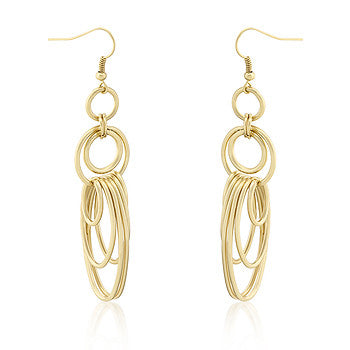 Multi-Hooplet Golden Earrings