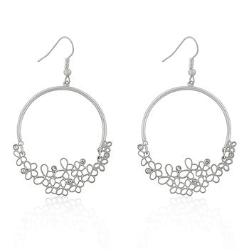 Matte Rhodium Vintage Butterfly Earrings