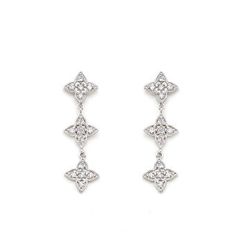 Four Point Classic Dangle Earrings