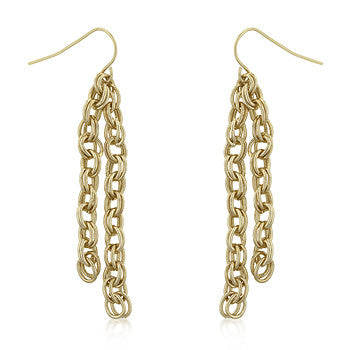 Rolo Chain Dangle Earrings