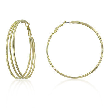 Golden Multiple Hoop Earrings