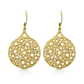 Spotted CZ Circle Earrings