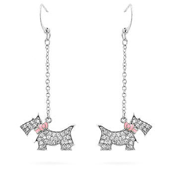 Glitzy Puppy CZ Earrings