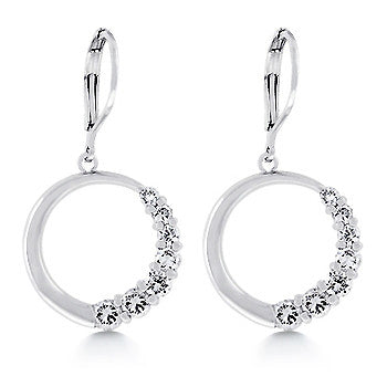 Roman Goddess CZ Earrings