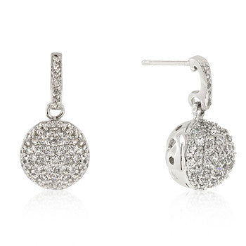 Crystal Ball Dangle Earrings