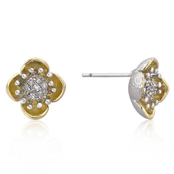 Floral Bloom 18K Gold Earrings