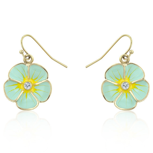 Light Blue Floral Meadow Earrings