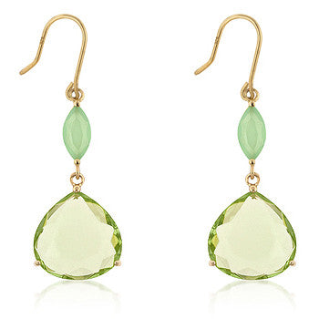 Apple Green Drop Earrings