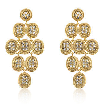 Golden Cluster Earrings