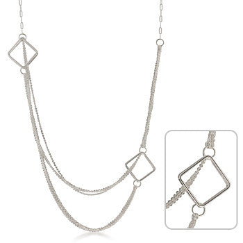 Linked Square Necklace