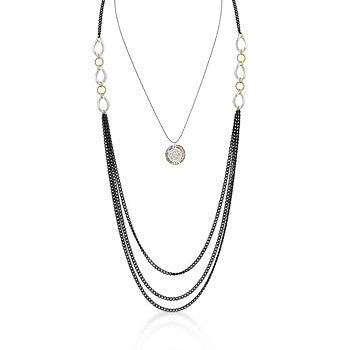Three-Toned Layered Chain Necklace