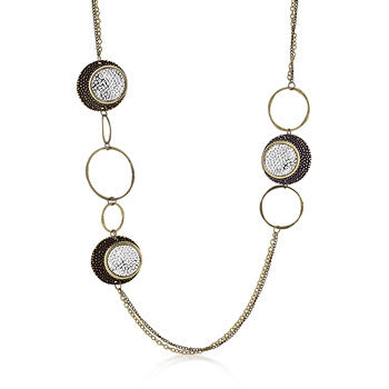 Vintage Two-Toned Multi-Texture Necklace