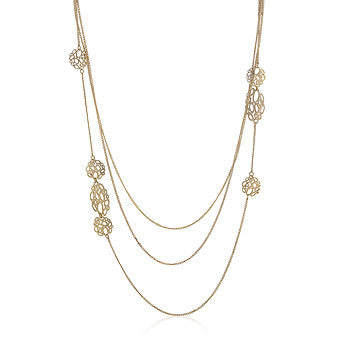 Organic Filigree Golden Necklace
