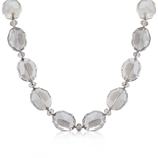 Smokey Gray Crystal Necklace