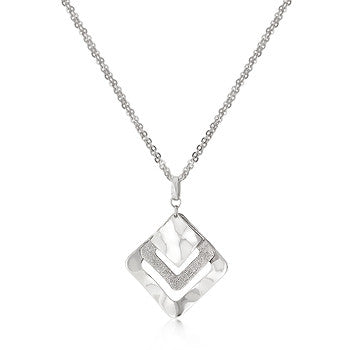 Art Deco Graduated Square Necklace