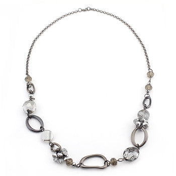 Hematite Organic Link Necklace