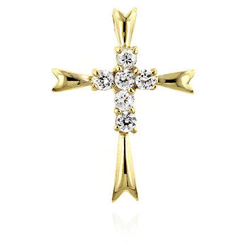 Gold Coupled Cross Pendant