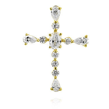 Graceful Cross Pendant