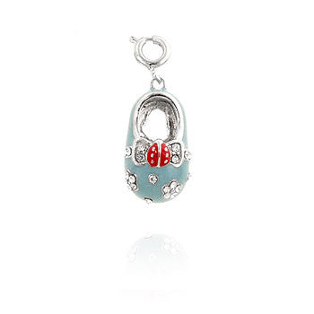 Blue Shoe Fashion CZ Pendant