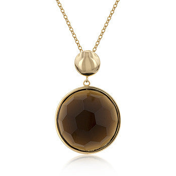 Multi-Faceted Smokey Topaz Pendant