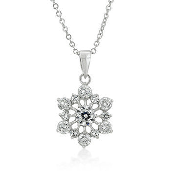 Arctic Treasure - White Gold Rhodium Bonded Snowflake in a Silvertone