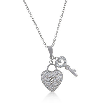 Heart and Key Pendant