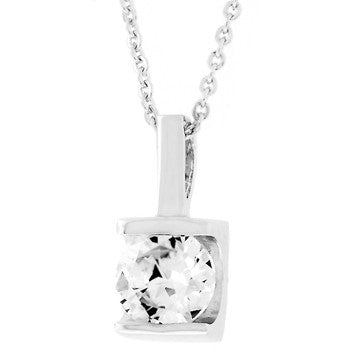 Classic Framed Solitaire Pendant